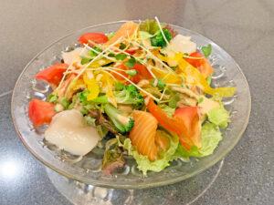 サーモンと帆立の明太サラダ